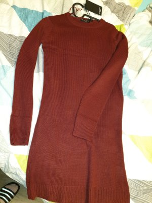 Brave Soul Sweater Dress dark red