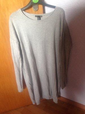 Pullover-Kleid in grau