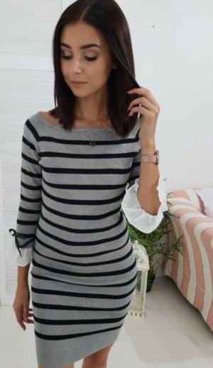 Sweaterjurk zwart-grijs