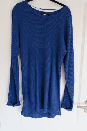 Pullover-Kleid / Long-Pullover in blau Gr. 38