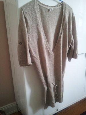 Pullover/Kleid, Massimo Dutti, beige/Lurex/Gold, Gr. M