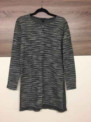 Amisu Abito maglione nero-bianco