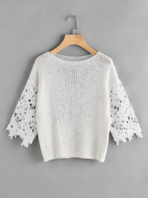 Cable Sweater white