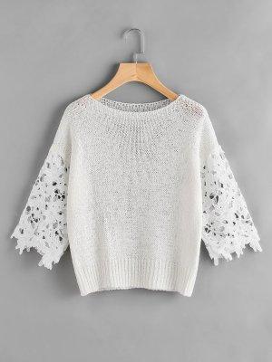 Pullover kurz mit Spitze
