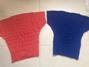 Jersey sin mangas azul-rojo claro