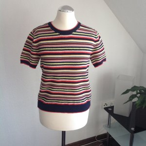 Zara Knit Short Sleeve Sweater multicolored