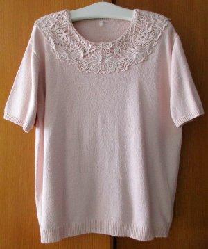 Jersey de manga corta rosa Seda