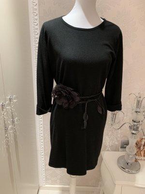 Pullover L/XL schwarz mit Gürtel