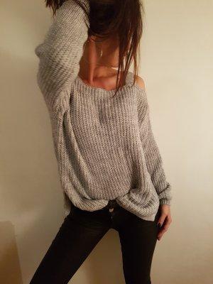 pullover / lässig / grau