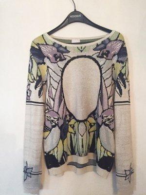 Pullover Lala Berlin lurex Glitter Blumen