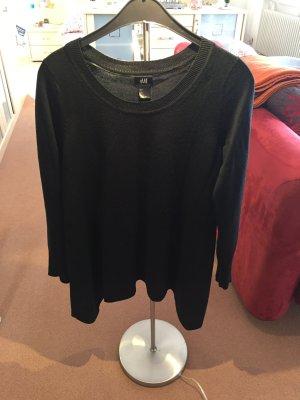 Pullover lang in schwarz
