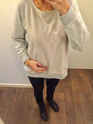 Pullover langärmlig Hoodie vorne & hinten Roségold schimmernd runder Ausschnitt