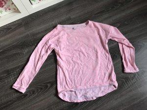 Pullover langärmlig pink rosa Oberteil Basic h&m