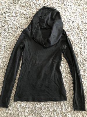 Pullover langarm mit Wasserfallausschnitt schwarz Größe 34 guter Zustand