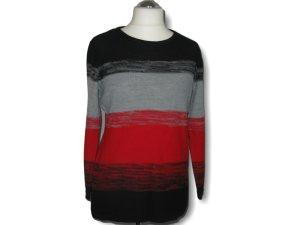 Pullover, Laura Kent, schwarz,rot,Größe 42