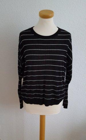 Pullover leicht schwarz weiß Mango