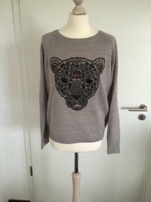 Pullover Löwenkopf Pailletten