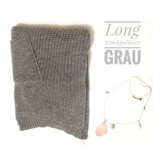 Pullover Long / Pulloverkleid mit Taschen vorne Einhgrösse SALE%