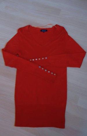 Pullover Longpullover orange Gr. 38 Vestino