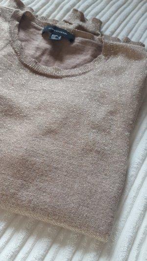 Pullover Longsleeve glitzer gold schimmer
