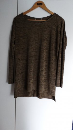 Pullover/Longsleeve in  gold-schwarz; Gr. S