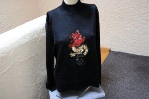 #Pullover m. Drachen-Applikation, Gr. 44/46, #NEU, #schwarz, #Helline