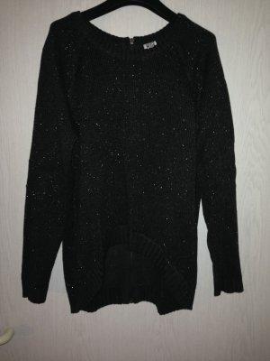 Pullover *M* grau-silber meliert
