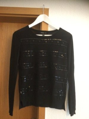 Mango Suit Crewneck Sweater black