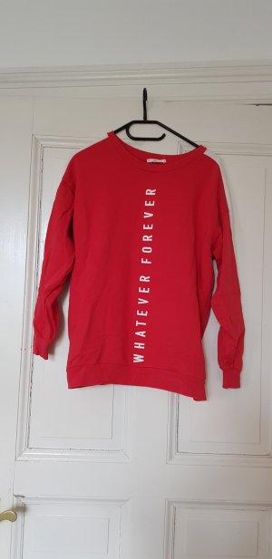 Pullover Mango rot weiß Gr. S