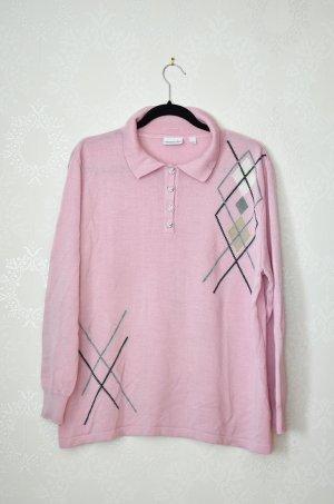 Pullover Marinello Rose Altrosa NEU Kragen Knopfleiste Plussize