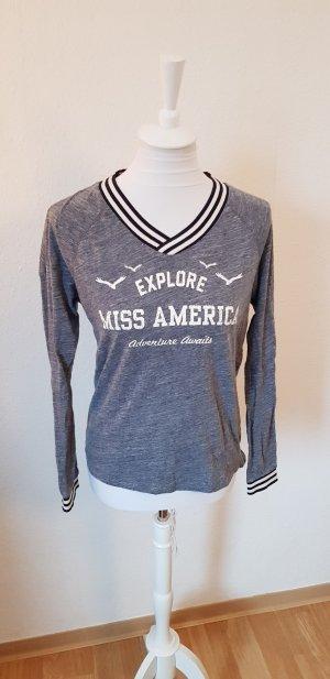 Pullover Miss America grau