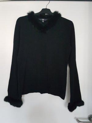 Pullover mit abknöpfbaren Pelz gr 36/38