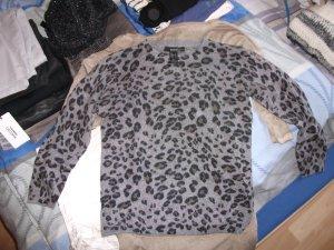 Mango Kraagloze sweater grijs Polyamide