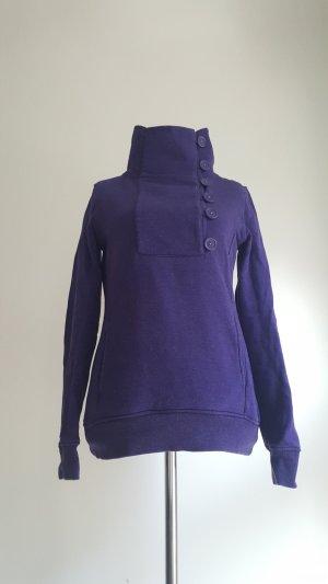 Review Turtleneck Sweater dark violet-azure mixture fibre