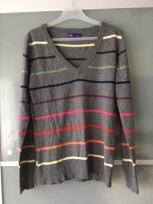 AJC V-Neck Sweater dark grey-grey