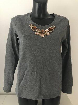 Pullover mit besticktem Perlenkragen/Schmuckkragen