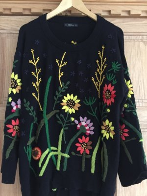 Zara Maglione girocollo multicolore Tessuto misto