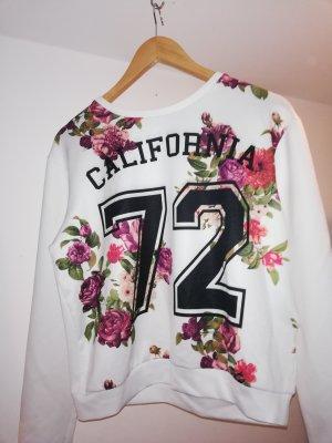 Pullover mit Blumen und Zahl