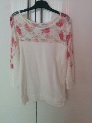 Pullover mit Blumenmuster und Spitze