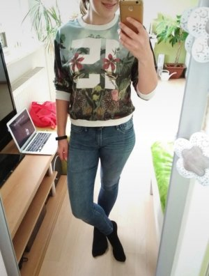 Zara Maglione a maniche corte multicolore