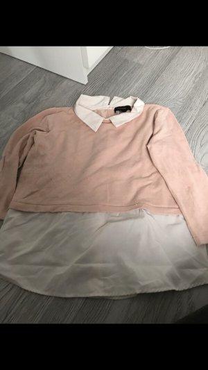 Primark Empiècement de blouses blanc-rosé