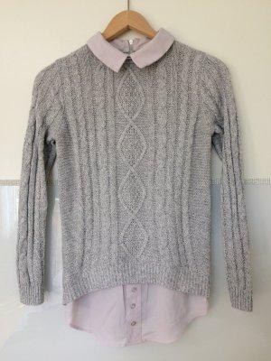 Pullover mit Blusen-Einsatz
