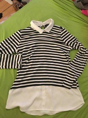 Pullover mit Blusenanteil