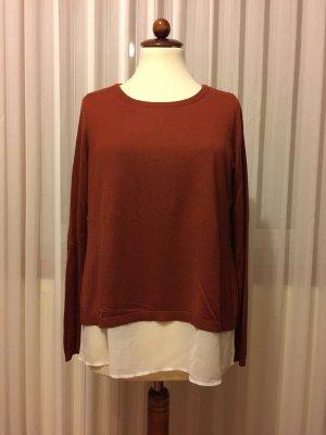Pullover mit Bluseneinsatz, H&M, Gr. M