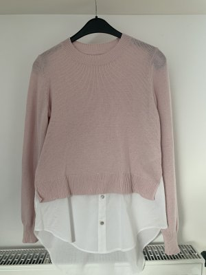 H&M Fine Knitted Cardigan white-dusky pink