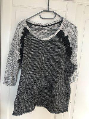 Only Sweater met korte mouwen zwart-room