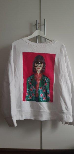 Pullover mit buntem Aufdruck