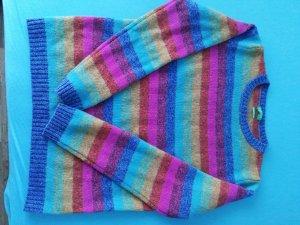 Pullover mit bunten Streifen
