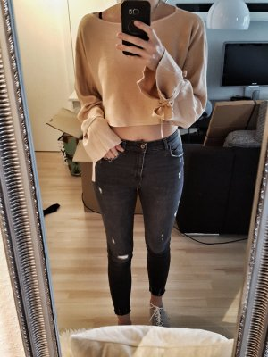 Zara Maglione lavorato a maglia albicocca