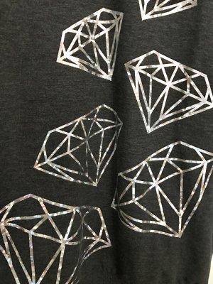 Pullover mit Diamantenprint